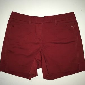 White House Black Market Red Shorts